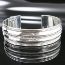 "7"" .925 Sterling Silver Twisted Rope Cuff Bracelet -NEW"
