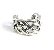 .925 Sterling Silver Adjustable Celtic Knot Ear Cuff