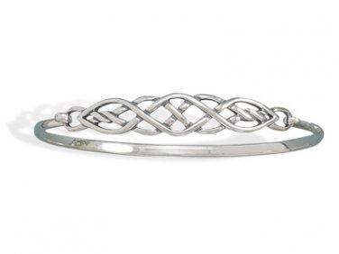 """NEW 7"""" .925 Sterling Silver Irish Celtic Knot Bracelet!"""