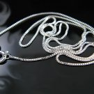 """.925 Sterling Silver 18"""" 1.00mm Box Chain Necklace -NEW"""