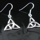 .925 Polished Silver Celtic Knot French Wire Earrings !