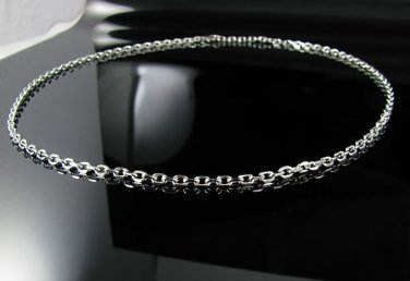 Stainless Steel 4mm Cable Link Chain Necklace 18,20,22""