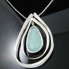 "16"" .925 Silver Necklace w/Ancient Roman Glass Pendant!"