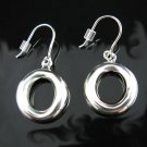 ".925 Polished Sterling Silver Puffy ""O"" Earrings - NEW!"