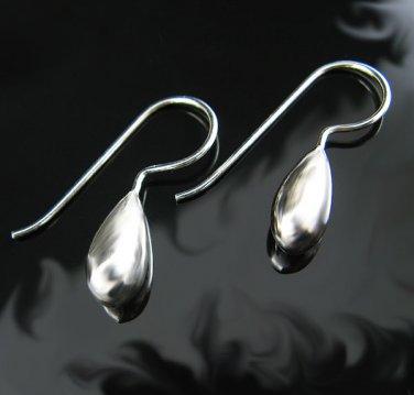 .925 Sterling Silver French Wire Tear Drop Earrings NEW