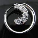 .925 Sterling Silver Circle of Love CZ Journey Pendant!