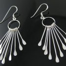 .925 Silver Open Circle Dangle French Wire Earrings