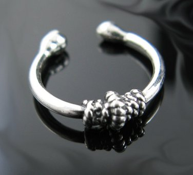 .925 Sterling Silver Bali Rope Knot Ear Cuff Ear Hugger