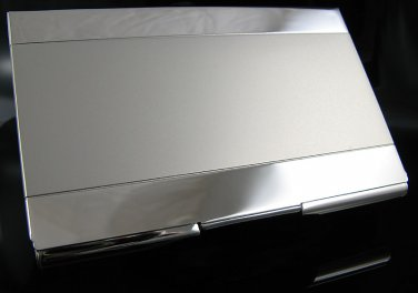 Silver Metal Matte Nickel Finished Business Card Case