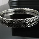 "8.0"" .925 Sterling Silver Celtic Knot Cuff Bracelet NEW"