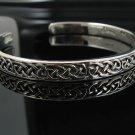 """7.5"""" .925 Sterling Silver Celtic Knot Cuff Bracelet NEW"""