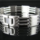 "Men's 8.5"" Stainless Steel Alternating Links Bracelet"