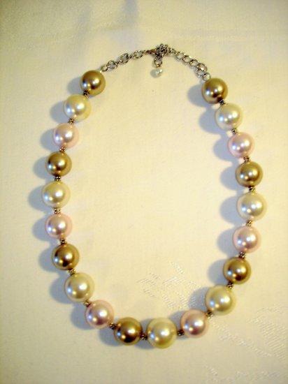 Amanda Multi color Large faux Pearl