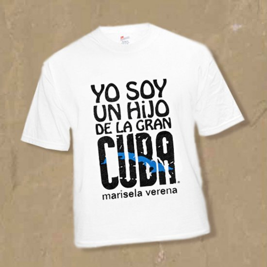 """LARGE I'm a SON of Cuba-the Great """"HIJO DE LA GRAN CUBA""""  Sz L T-SHIRT kirikirimusic.ecrater.com"""
