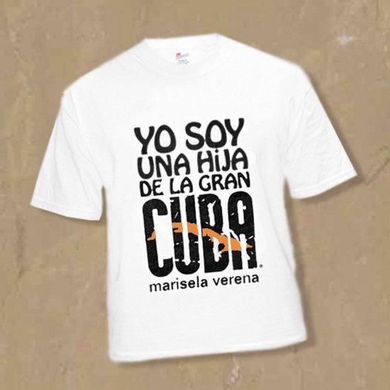 """SZ Medium DAUGHTER OF CUBA-THE GREAT-""""HIJA DE LA GRAN CUBA"""" MEDIUM TSHIRT kirikirimusic.ecrater.com"""