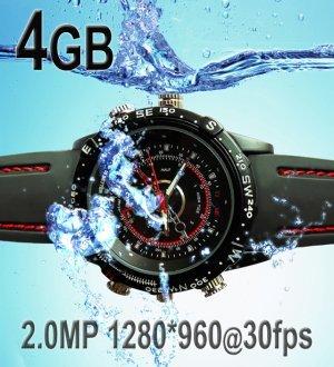 4GB Waterproof 2.0MP 30fps HD Spy watch DVR, new product