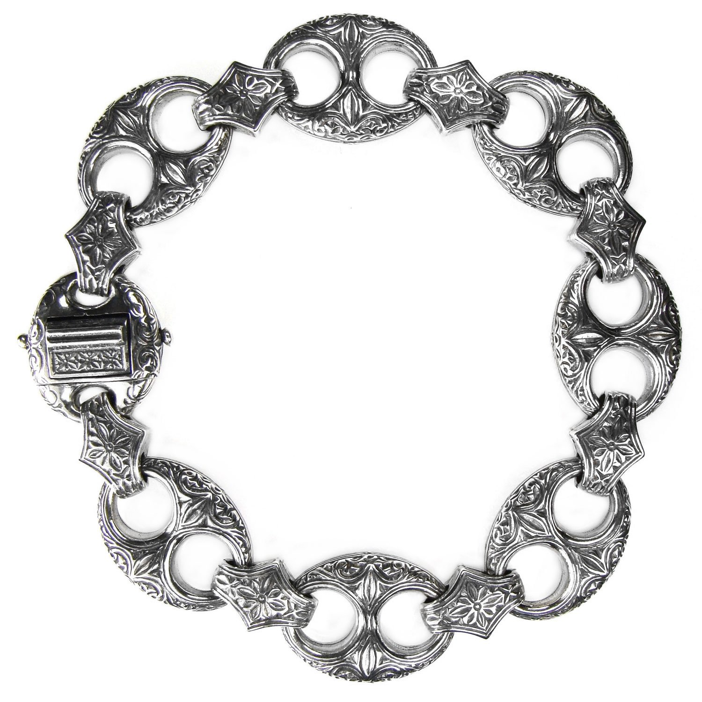 Gerochristo 6267 - Solid Sterling Silver Medieval-Byzantine Bracelet
