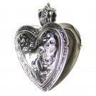 Gerochristo 3278 - Sterling Silver Engraved Heart Locket Pendant