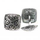 Gerochristo 7122 - Sterling Silver Byzantine-Medieval Cufflinks