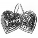 Gerochristo 1411 - Sterling Silver Filigree Heart Earrings