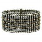 Gerochristo 6018 - Solid 18K Gold & Sterling Silver Medieval Byzantine Bracelet