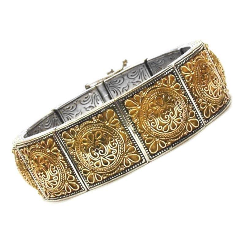 Gerochristo 6063 Solid 18K Gold & Sterling Silver Medieval Byzantine Bracelet