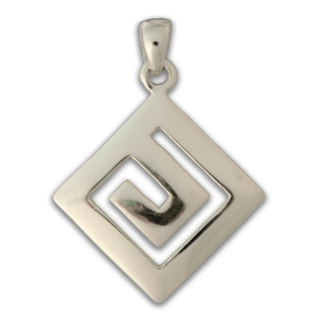 Meander Greek Key Sterling Silver Pendant