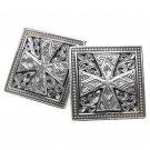 Gerochristo 7101 Sterling Silver Medieval Cross Cufflinks