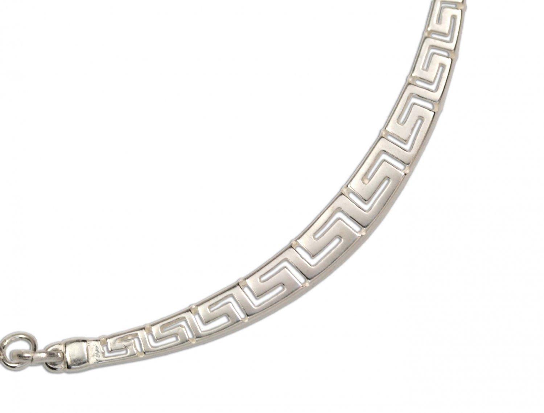 Meander-Greek Key -  Sterling Silver Necklace
