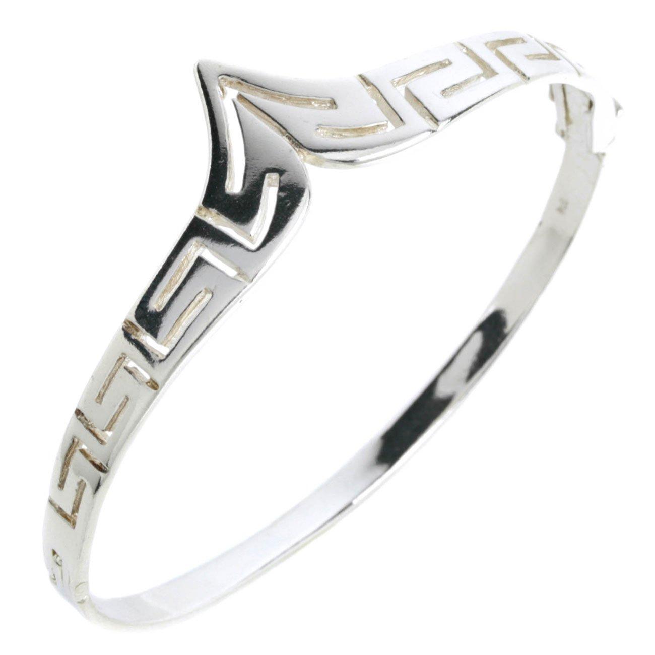 Meander-Greek Key - Sterling Silver Bracelet