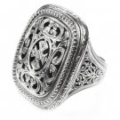 Gerochristo 2603 -Sterling Silver Medieval-Byzantine Cross Ring / size 7