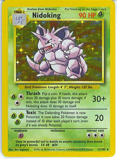 Base Set 11/102- Nidoking