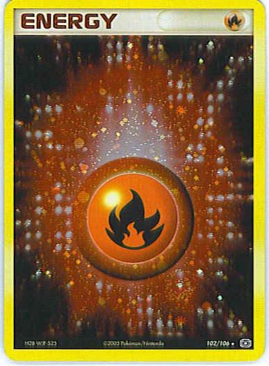 EX Emerald 102/106- Fire Energy