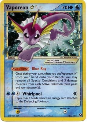 EX Power Keepers 102/108- Vaporeon Star