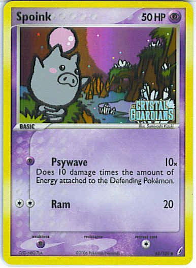 Crystal Guardians 62/100- Spoink (Reverse Holo)