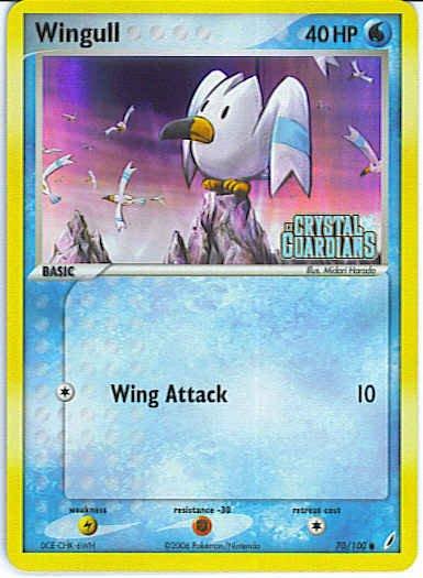 Crystal Guardians 70/100- Wingull (Reverse Holo)