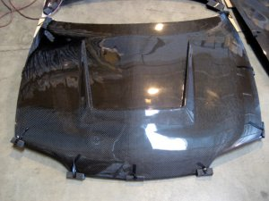 1994-2001 Acura Integra 3/4-door J-Spec C-W style carbon fiber hood