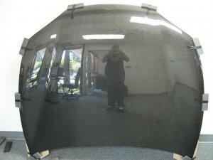 1997-1999 Hyundai Tiburon OEM style carbon fiber hood