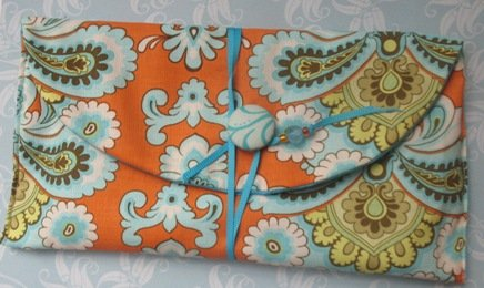 Designer  Fabric Cash Only Envelopes and Carrier