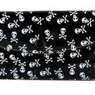 Women's Fashion Wallet~Black With White Skulls