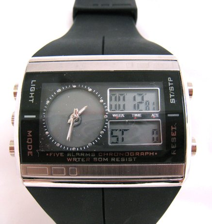 Fucda black watch digital stainless steel