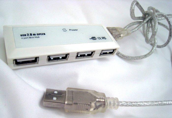 4-port mini-hub USB 2.0 Hi-speed