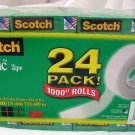 "3M Scotch Magic Tape Wholesale 24pack of 1000"" rolls"