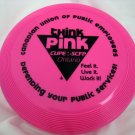 "Mini Frisbee ""think pink"" from gay pride in ontario canada"