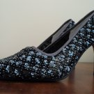 Vintage ANN MARINO Womens Beaded High Heel Dress Shoes Sz.6M