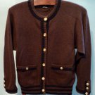Vintage AUTH CHANEL Pure Cashmere Sweater Cardigan Size S