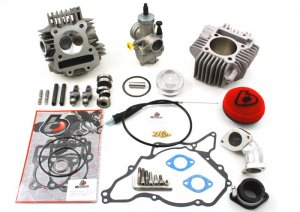 KLX110 TB 165cc Bore Kit, Race Head V2, and 28mm Carb Kit