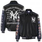 New York Yankees Black-Navy Blue 2009 World Series Champions Leather Jacket