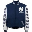 New York Yankees Navy Blue 27 Time World Series Champions Canvas Jacket