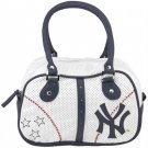 New York Yankees Ladies White Bowler Purse